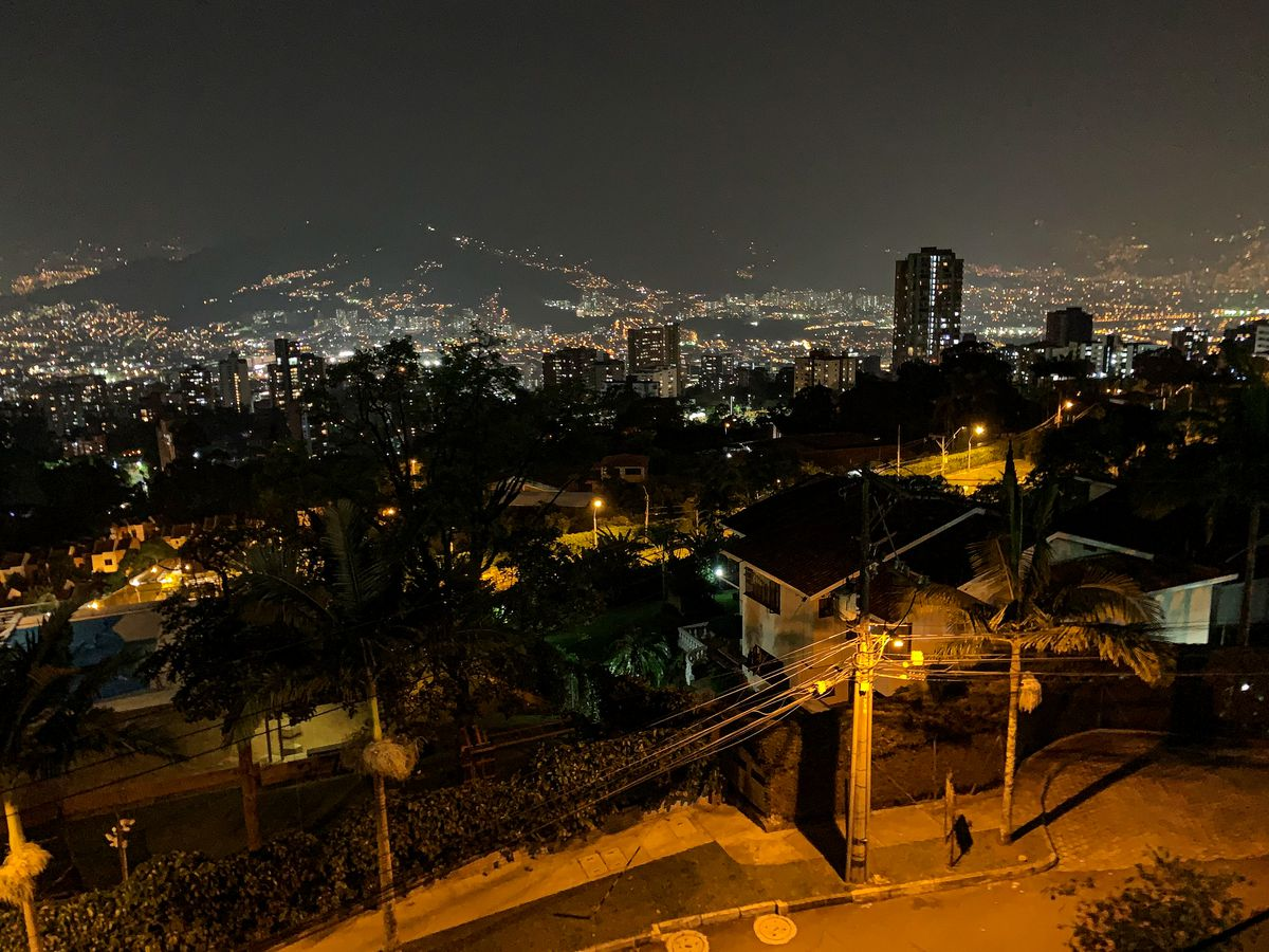 A look off into the distance in Medellín, Colombia