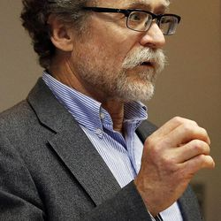 University of Utah biology Professor David Carrier speaks as the Utah Citizens' Counsel announces its 2014 Assessment of Utah's Policy Progress in Salt Lake City, Wednesday, Dec. 10, 2014.