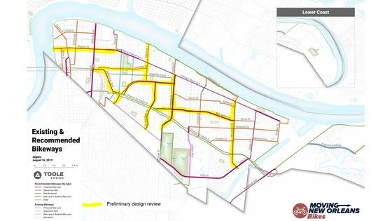 City of New Orleans unveils plan for 11 miles of bikeways in ...
