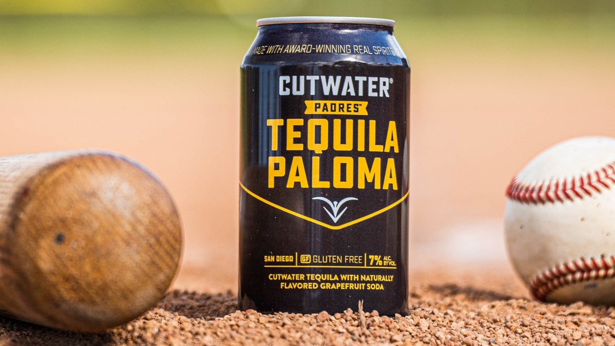Cutwater Spirits' Padres edition of its canned Tequila Paloma cocktail