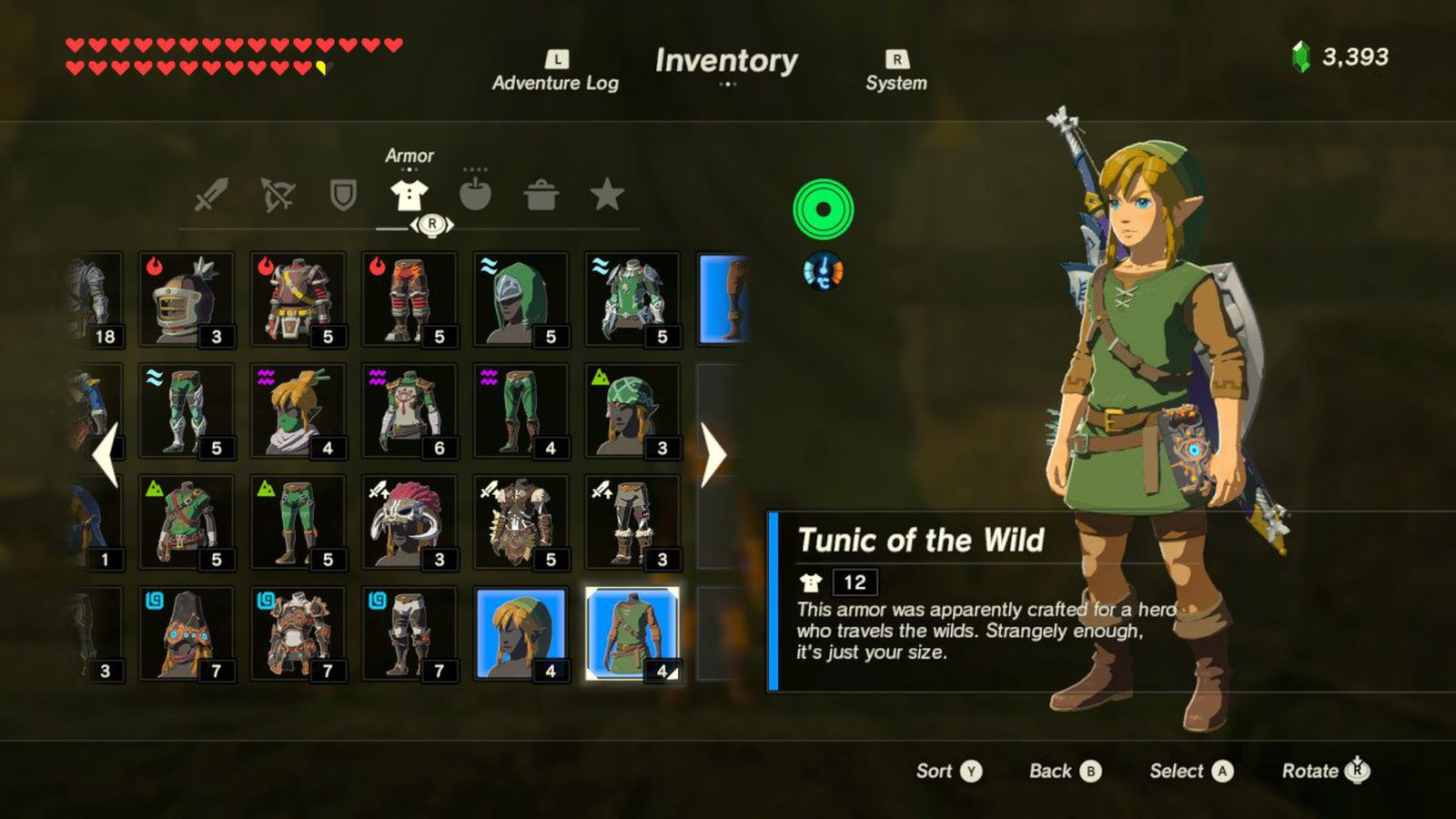 You can unlock Link's classic green tunic in The Legend of Zelda: Breath of the Wild