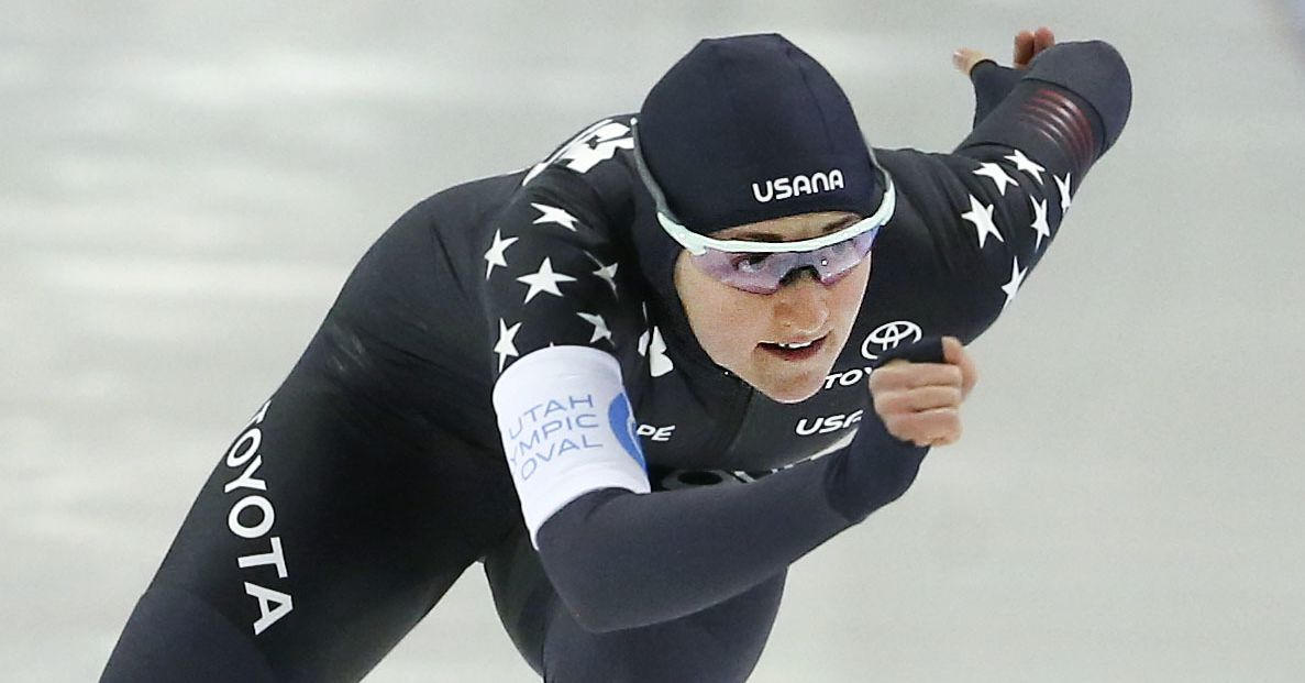 Kimi Goetz has another career day at speed skating championships, where 2 more world records fall