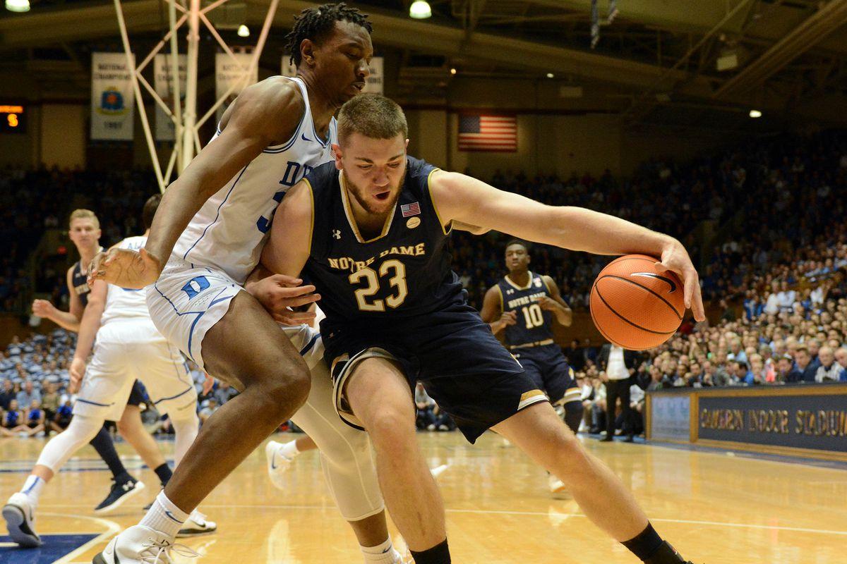 NCAA Basketball: Notre Dame at Duke