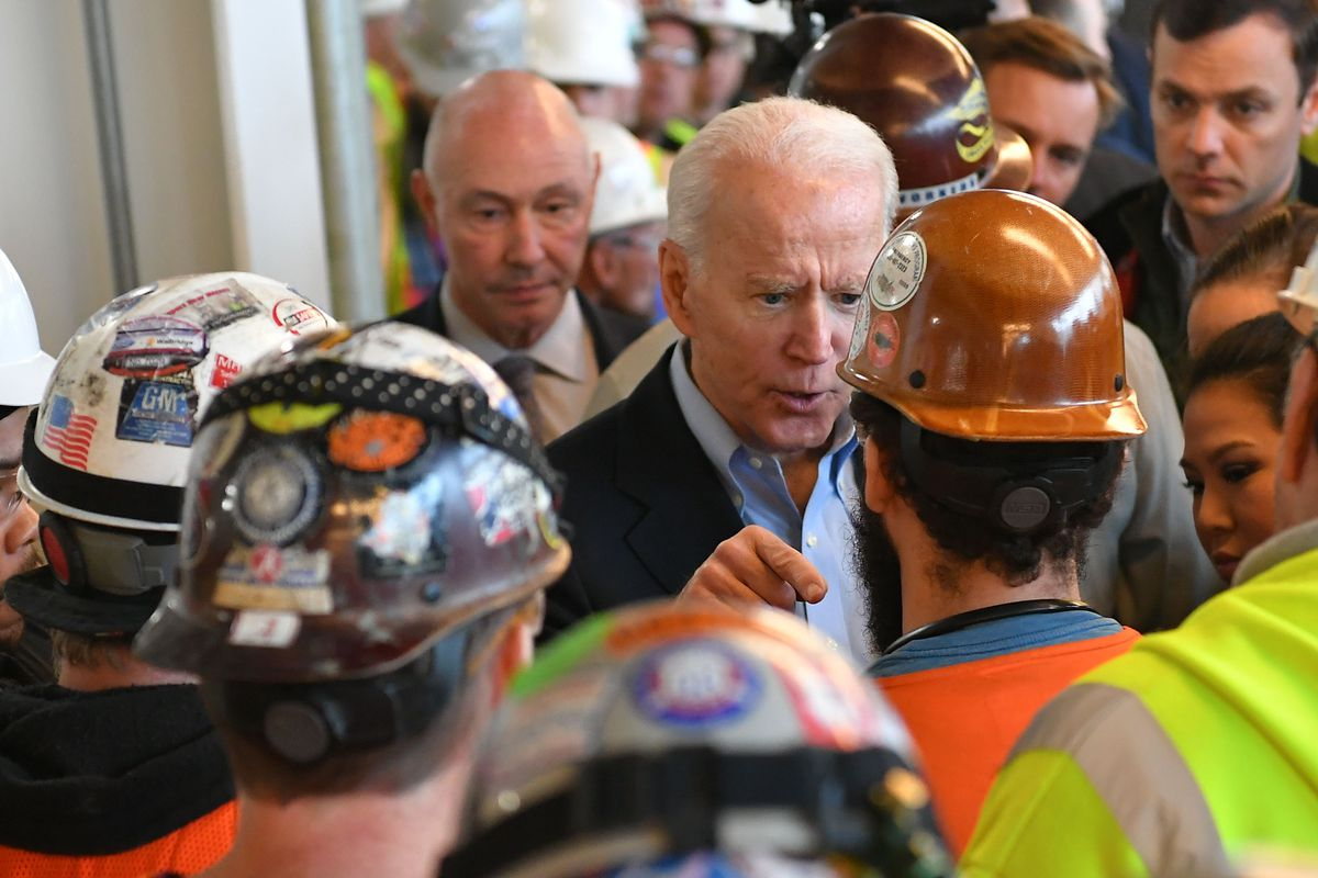 At Detroit's Fiat Chrysler plant in March 2020, presidential candidate Joe Biden argued with an autoworker who accused Biden of seeking to weaken the right to own firearms.