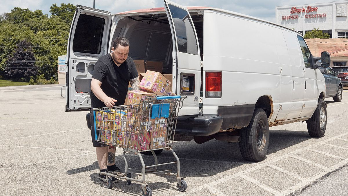 Nomads travel to America's Walmarts to stock Amazon's shelves - The ...