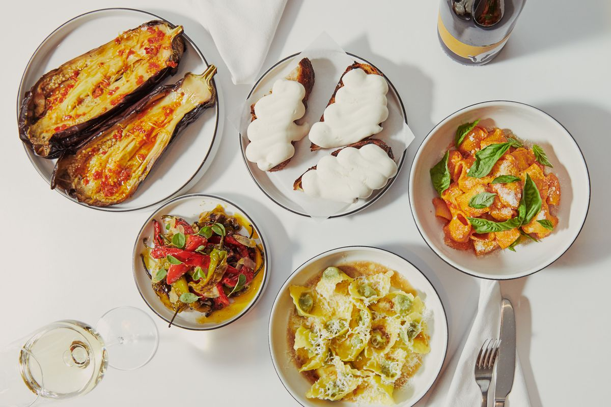A spread of dishes at Misi