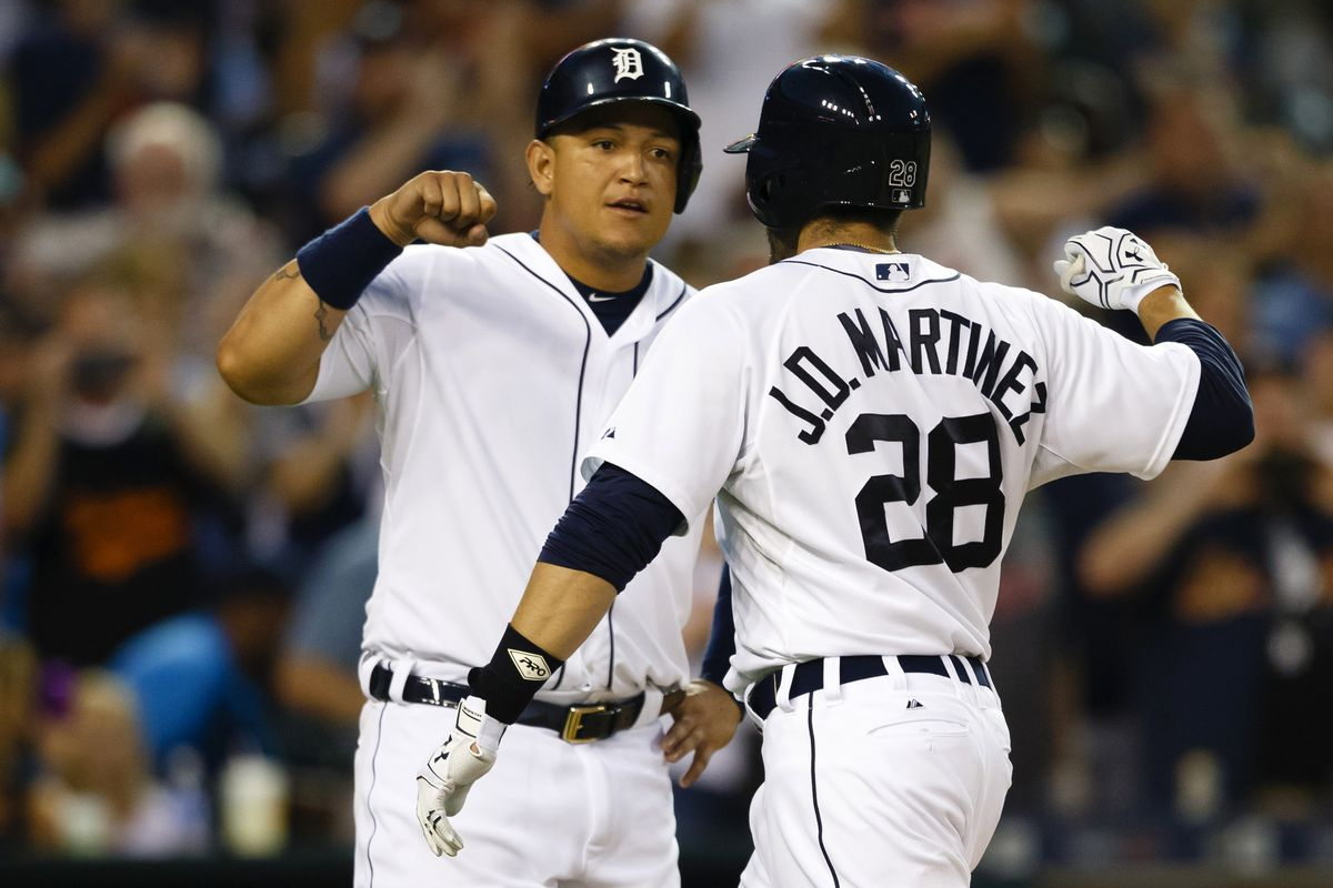 J.D. Martinez and Miguel Cabrera have basically been the Tigers offense vs. the Tribe this year