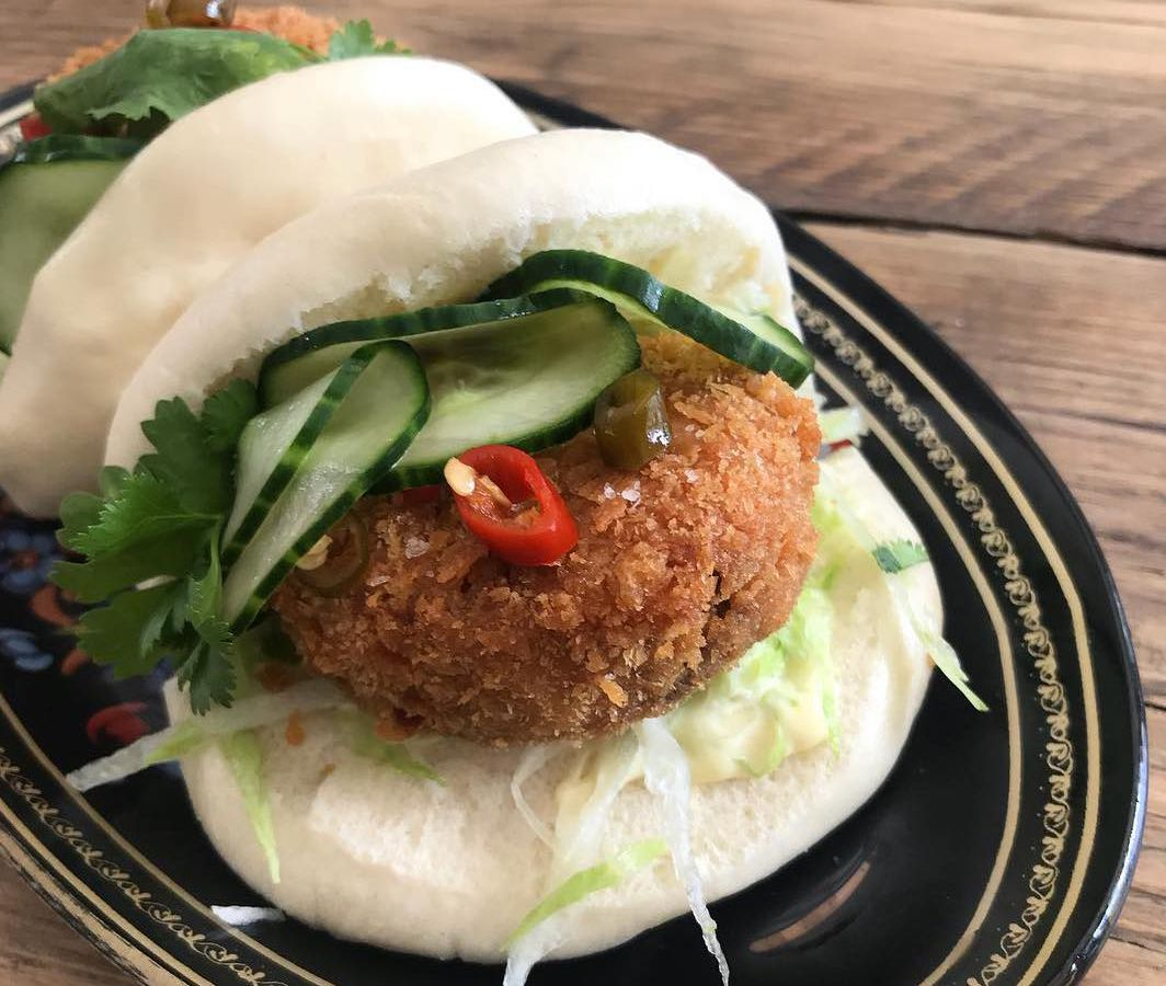 Pork nugget bao at Arch Rivals E7, one of east London's best snacks