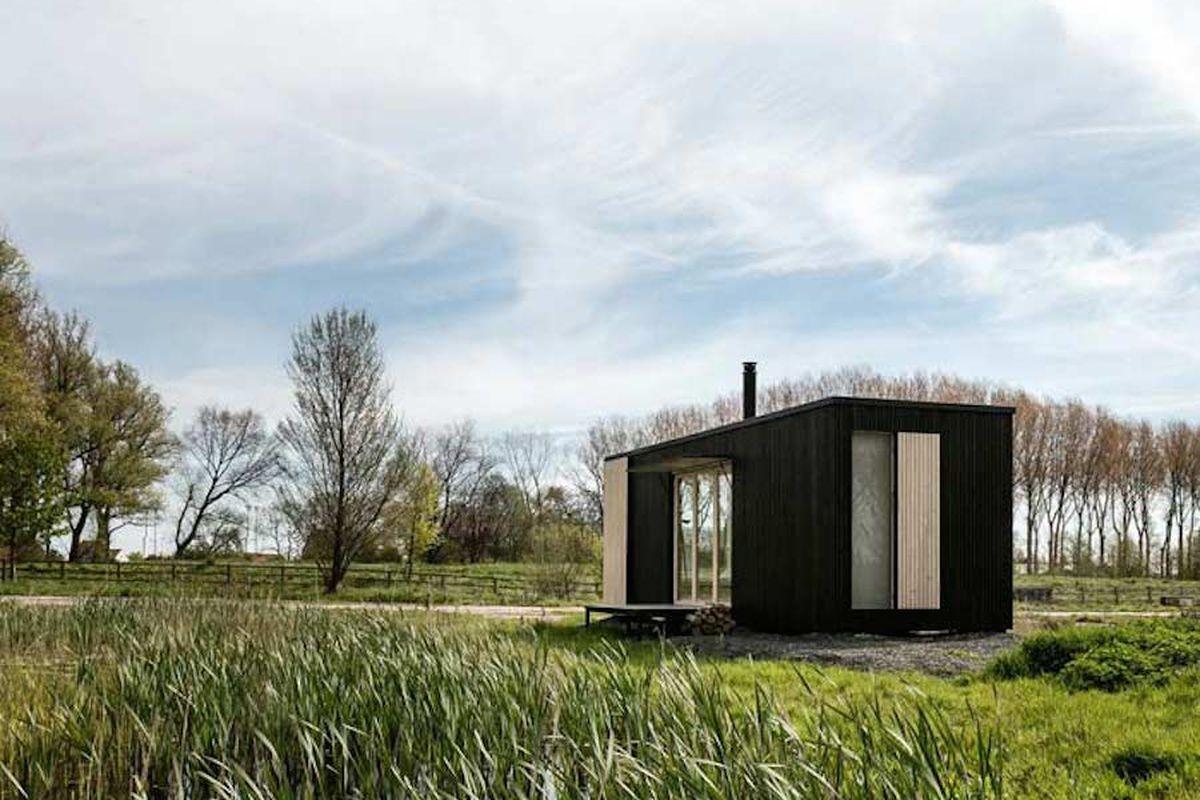 prefab wooden tiny home