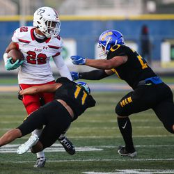 East takes on Orem during a high school football game at Orem High School in Orem on Friday, Aug. 21, 2020.