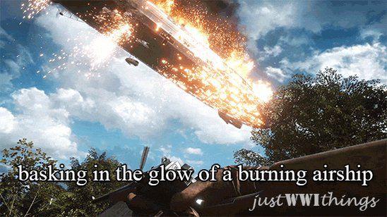 Battlefield 1 - deleted 'burning airship' tweet