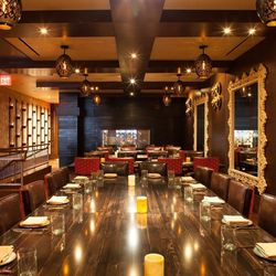 The private dining room at Chayo Mexican.
