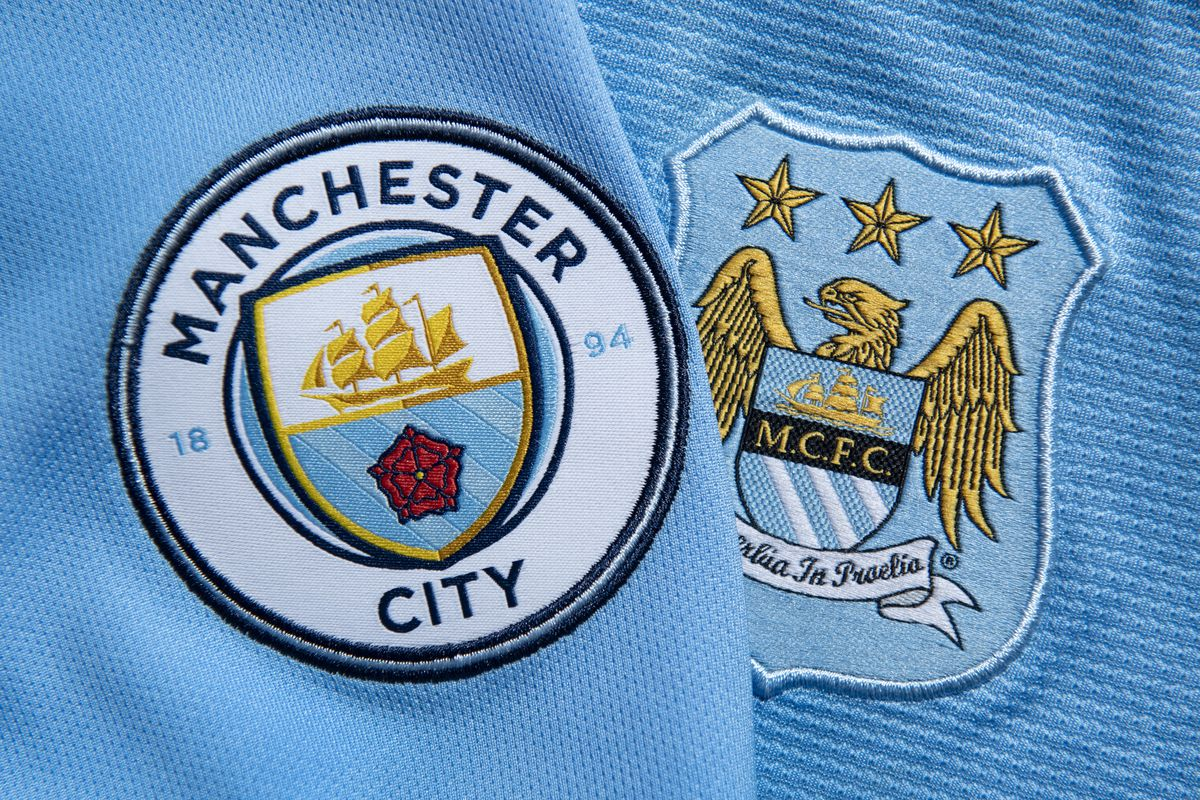 The Old and New Manchester City Club Crest