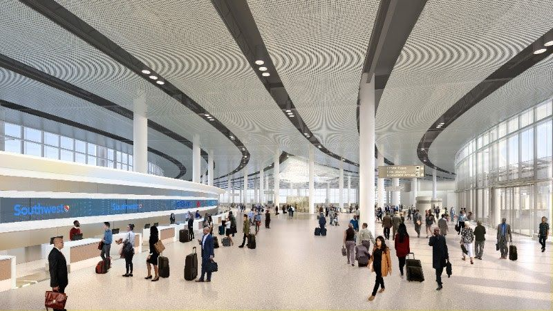 New looks at MSY airport's forthcoming $1 billion terminal