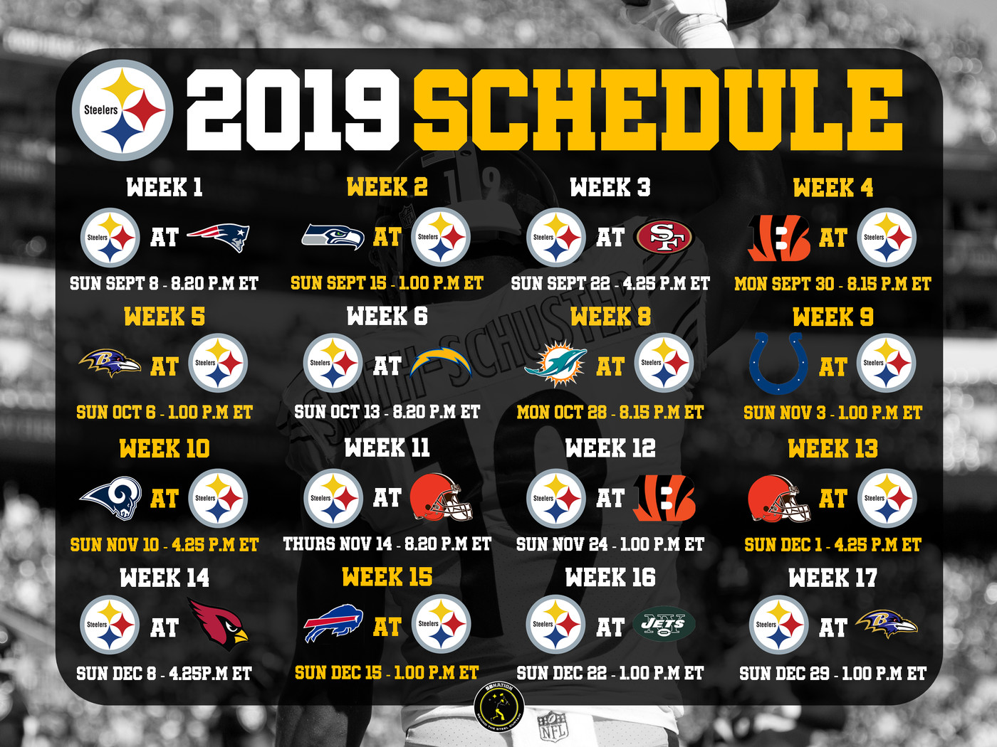 Steelers Home Schedule 2019 Pittsburgh Steelers 2019 Schedule: Rumors, leaks and NFL updates