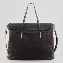 """Or a more reasonably priced work bag is the <strong>Elizabeth and James</strong> Large Lizard-Embossed Satchel, <a href=""""http://www.neimanmarcus.com/Elizabeth-and-James-Large-Lizard-Embossed-Satchel-Black-Handbags/prod160100042_cat47690755__/p.prod?icid=&"""