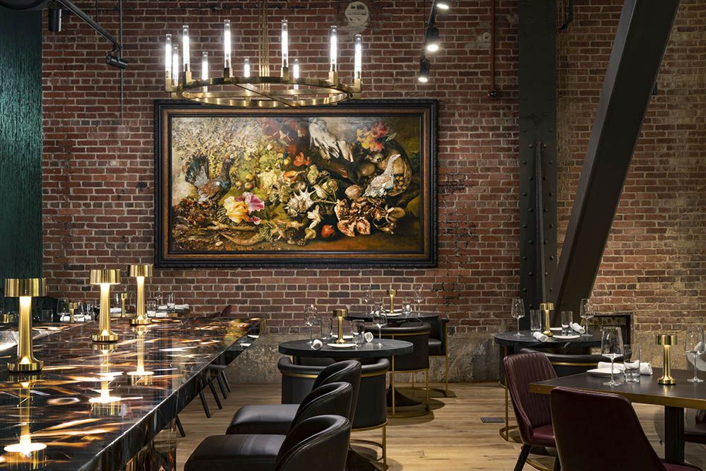 fancy steakhouse dining room