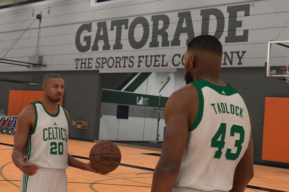 Michael B. Jordan stars alongside you in NBA 2K17 s MyCareer mode ... 6c478db8a