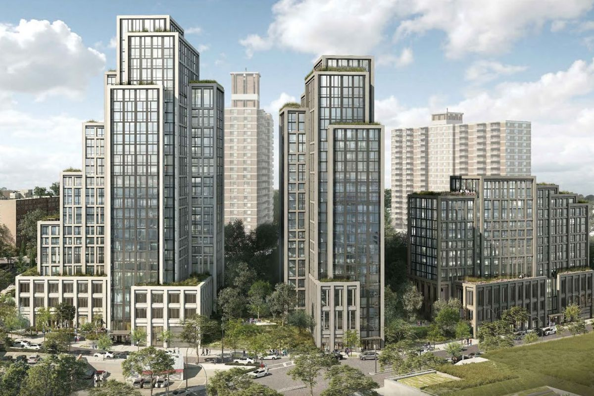 A rendering of the proposed River North development on Staten Island.