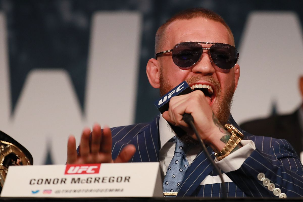 Conor McGregor drops the now-iconic one-liner at the UFC 205 pre-fight presser in 2016.