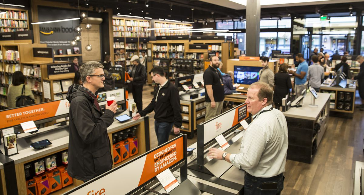 Amazon Opens First Brick-And-Mortar Bookstore In Seattle