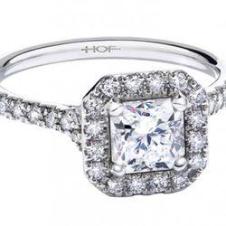 Hearts On Fire Transcend Single Halo Dream Diamond Solitaire Ring Platinum