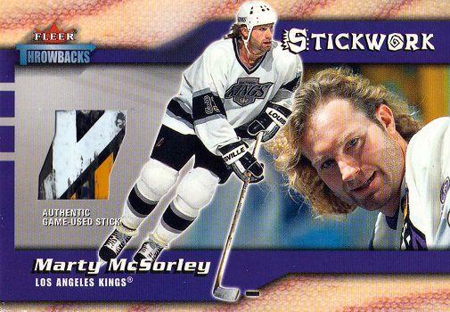 2002-03 Fleer Throwbacks Stickwork 9 McSorley