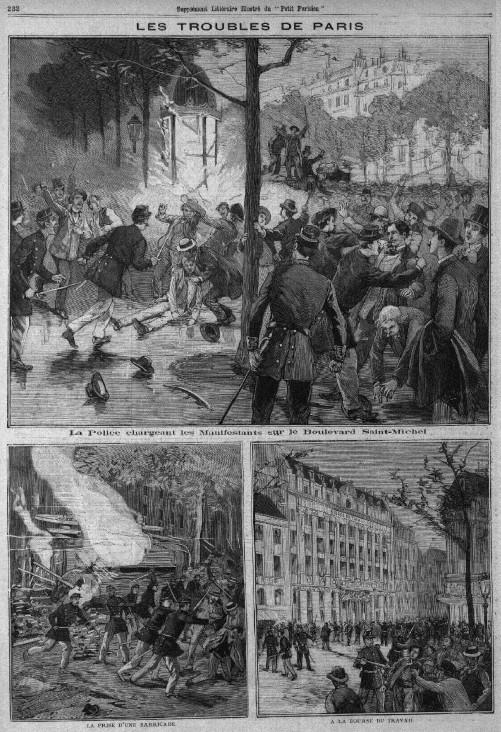 The scenes on the city's streets as depicted in 'Le Petit Parisien - Supplement Littéraire Illustré'