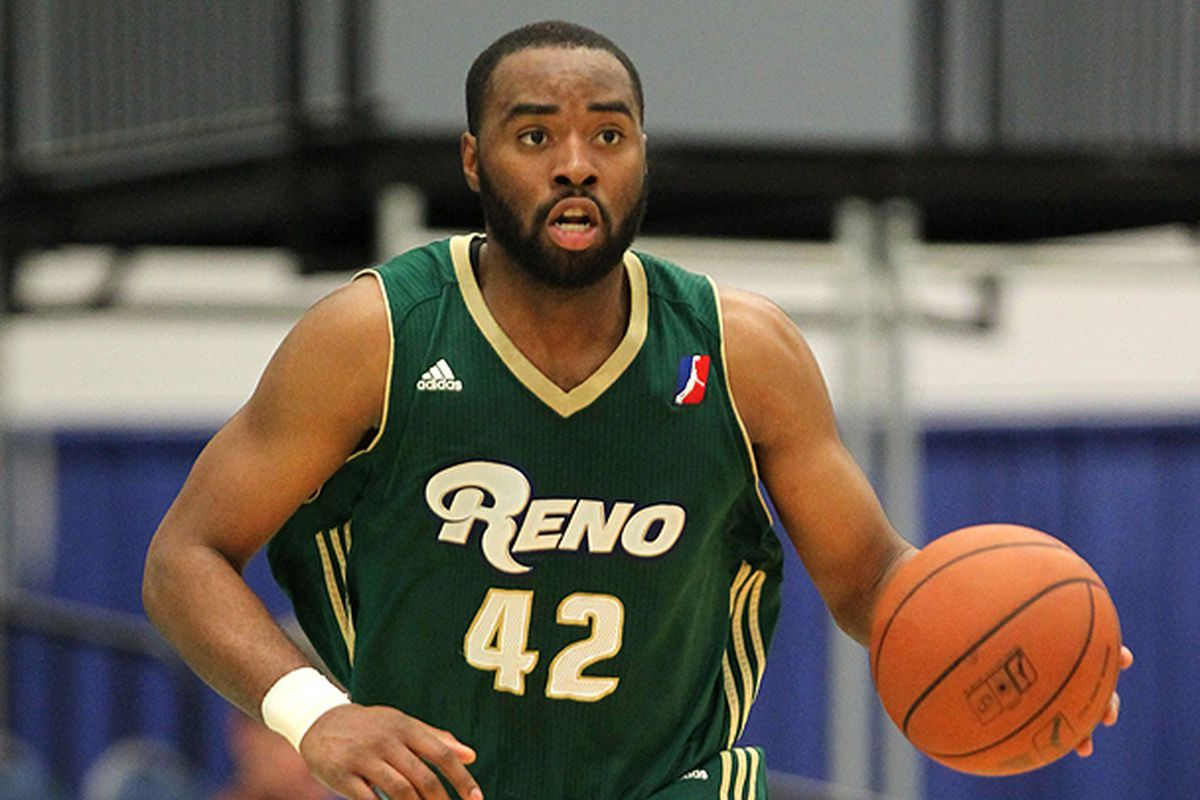Marcus Landry led the Reno Bighorns with 25 points in Sunday's victory over the Erie BayHawks.