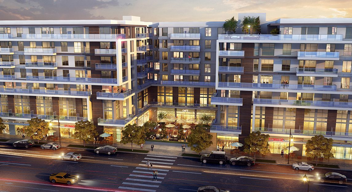 Rendering of apartments by night