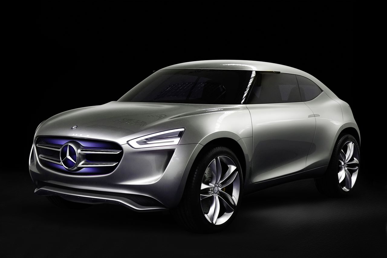 Mercedes benz has a new concept car powered by its paint for Mercedes benz employment