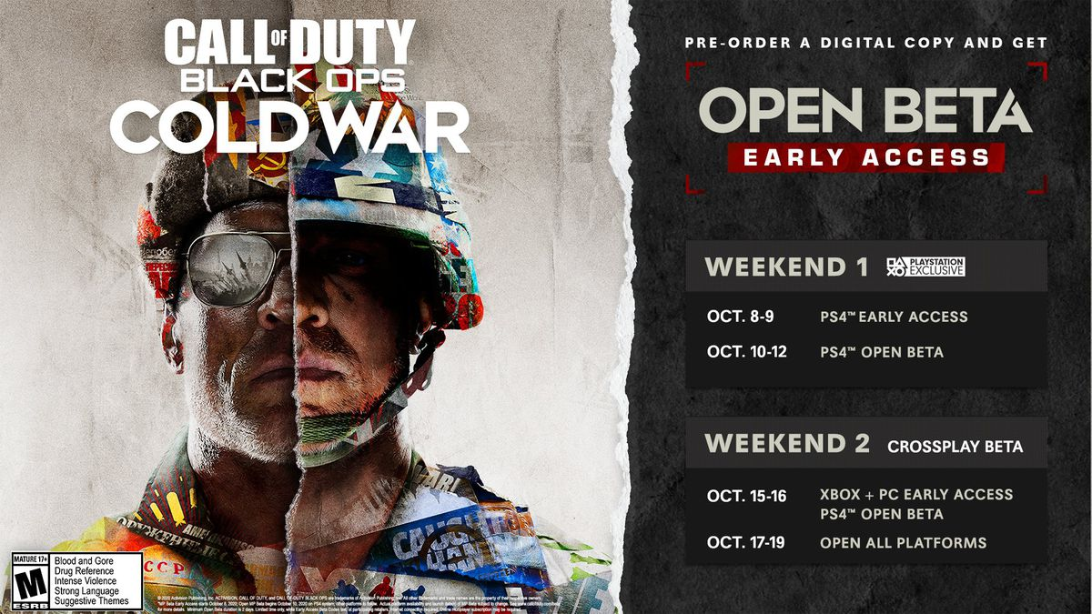 The release dates for Call of Duty: Black Ops Cold War's multiplayer beta