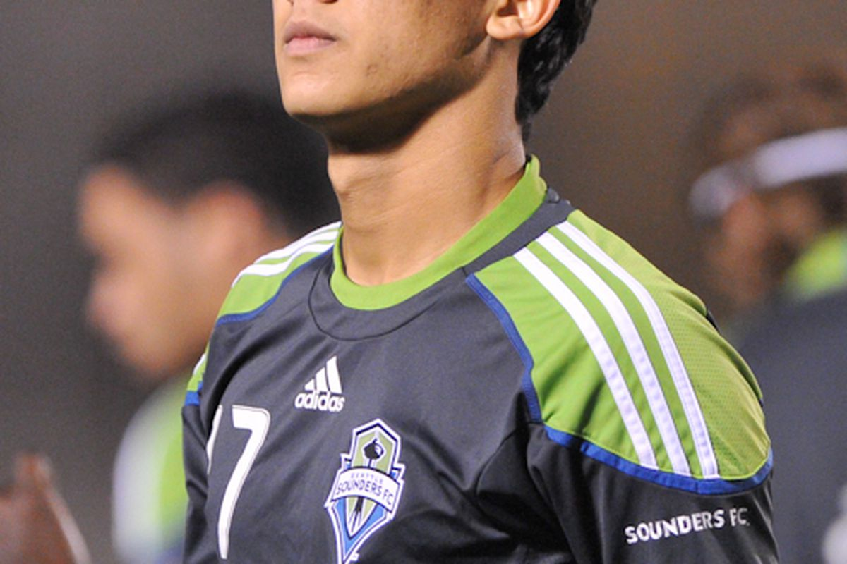 """Fredy Montero (Photo by Chris Coulter / <a href=""""http://www.SoundersPhotos.com"""" target=""""new"""">SoundersPhotos</a>)"""
