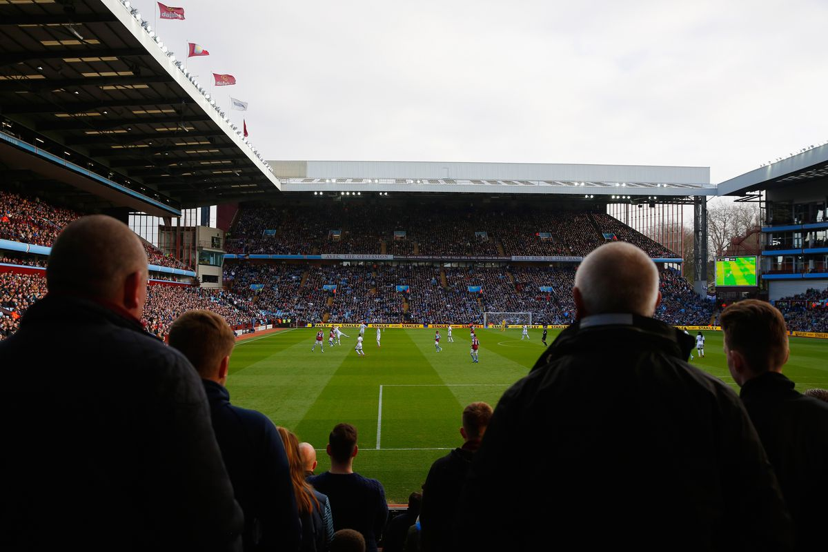 Just think, fans who have never gotten to see a match at Villa Park will get this view.