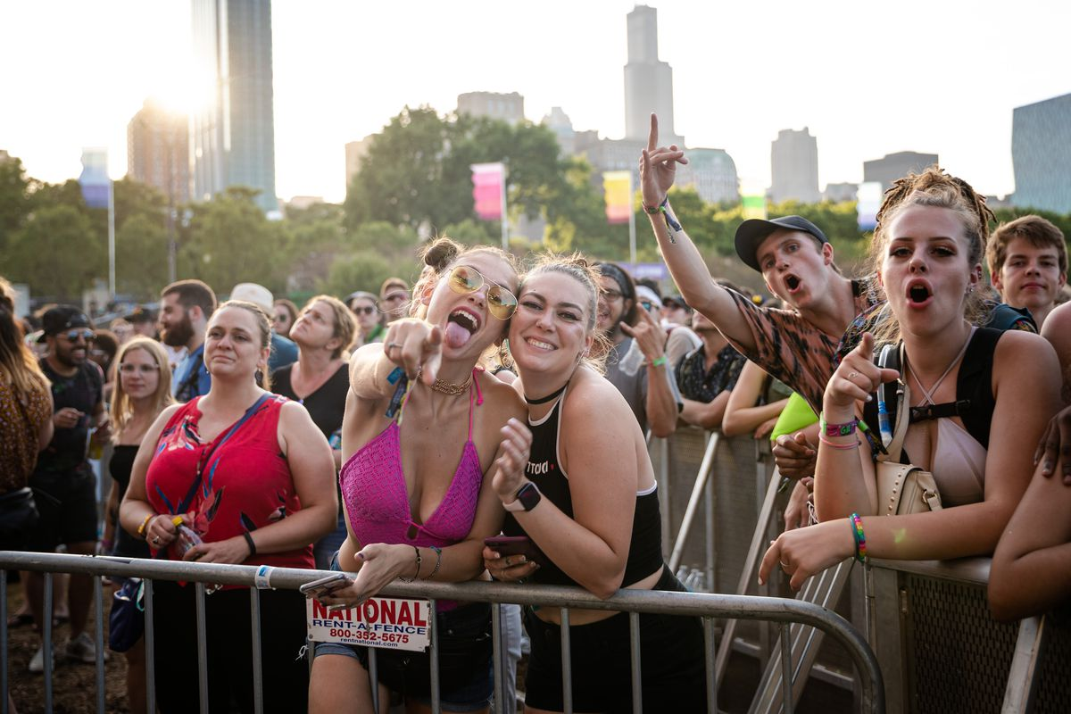 Fans attend Day 2 of Lollapalooza in Grant Park in 2019.