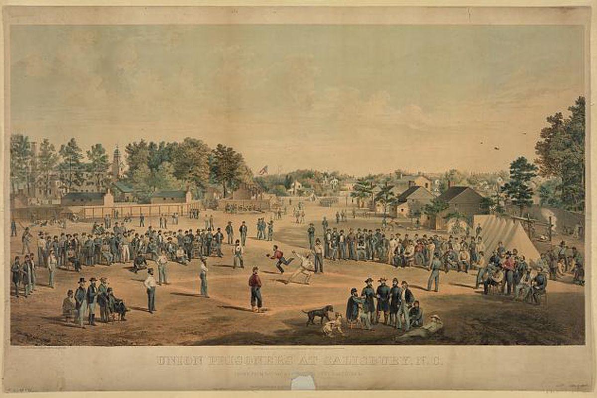 Baseball, as it was originally played: during a war.