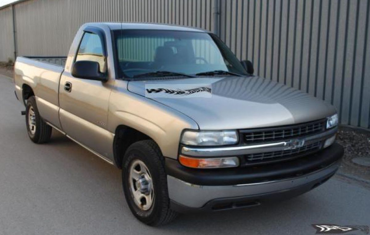 This 2003 Chevorlet SIlverado is similar to the pickup driven by a a man who tried to abduct a 12-year-old boy on Friday in Elmhurst.   Elmhurts police