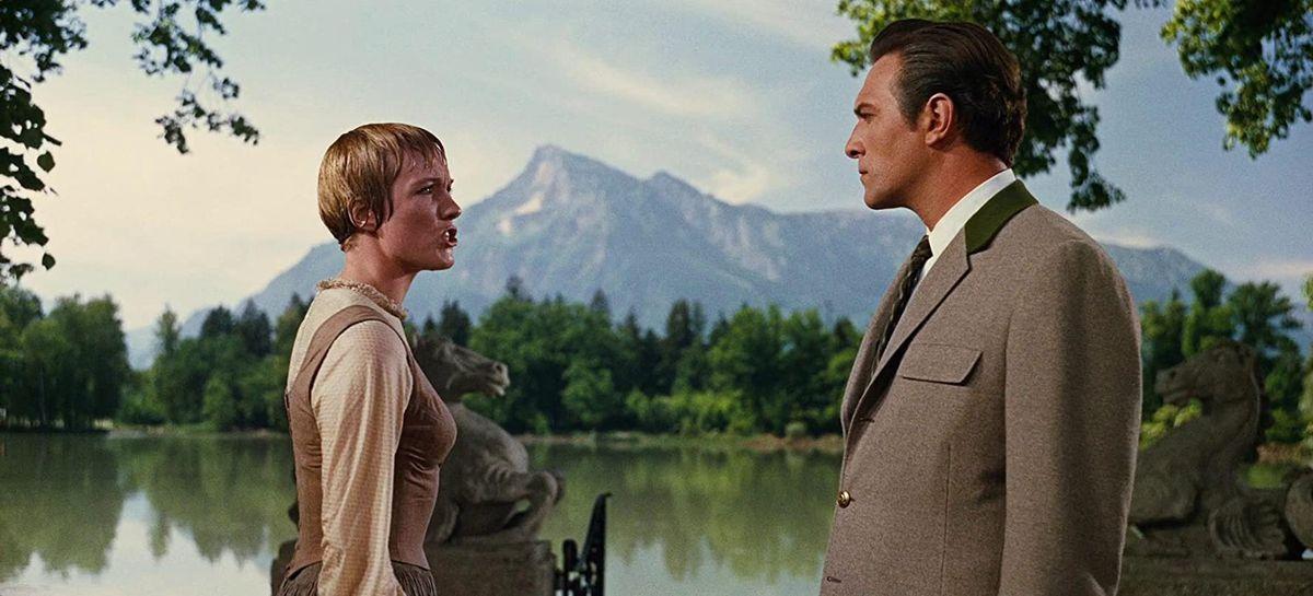 Maria (Julie Andrews) confronts Captain Von Trapp (Christopher Plummer)
