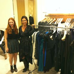 Celeb stylist Nicole Chavez styling party guests at Rebecca Taylor