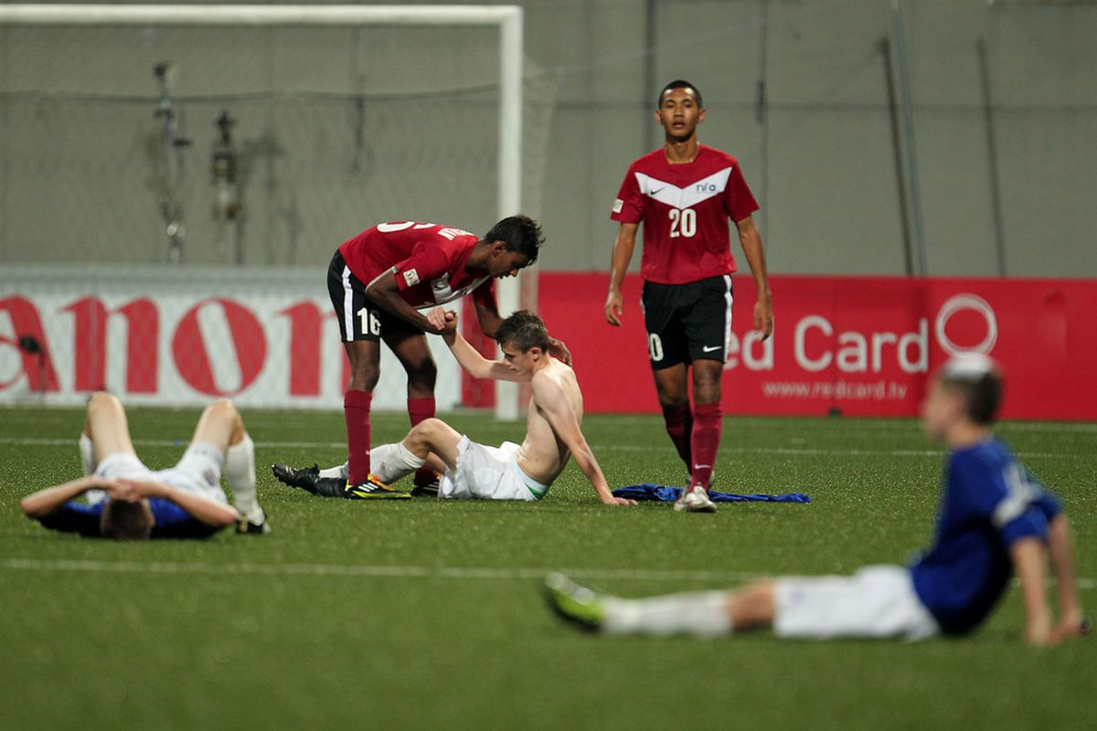 KALLANG, SINGAPORE - JUNE 22:  There is no real reason for this picture other than our U-18 team is in action tonight and I wanted to use the photo.  (Photo by Chris McGrath/Getty Images for SSC)