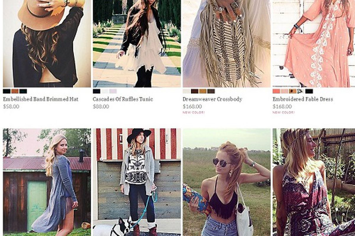 """Free People; Image <a href=""""http://philly.racked.com/archives/2014/02/26/free-people-changes-the-face-of-ecommerce-as-customers-takeover-freepeoplecom.php"""">via</a>"""