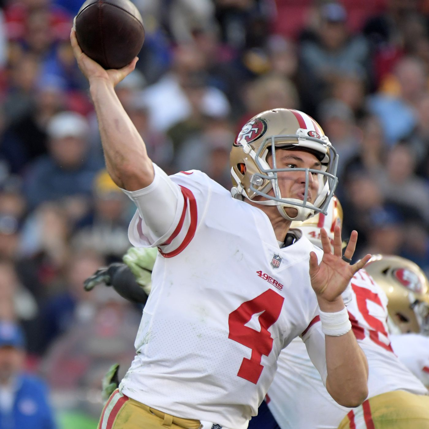 ESPN s Mike Sando thinks 49ers QB Nick Mullens to the Broncos helps both  teams - Niners Nation 2cc5b7157