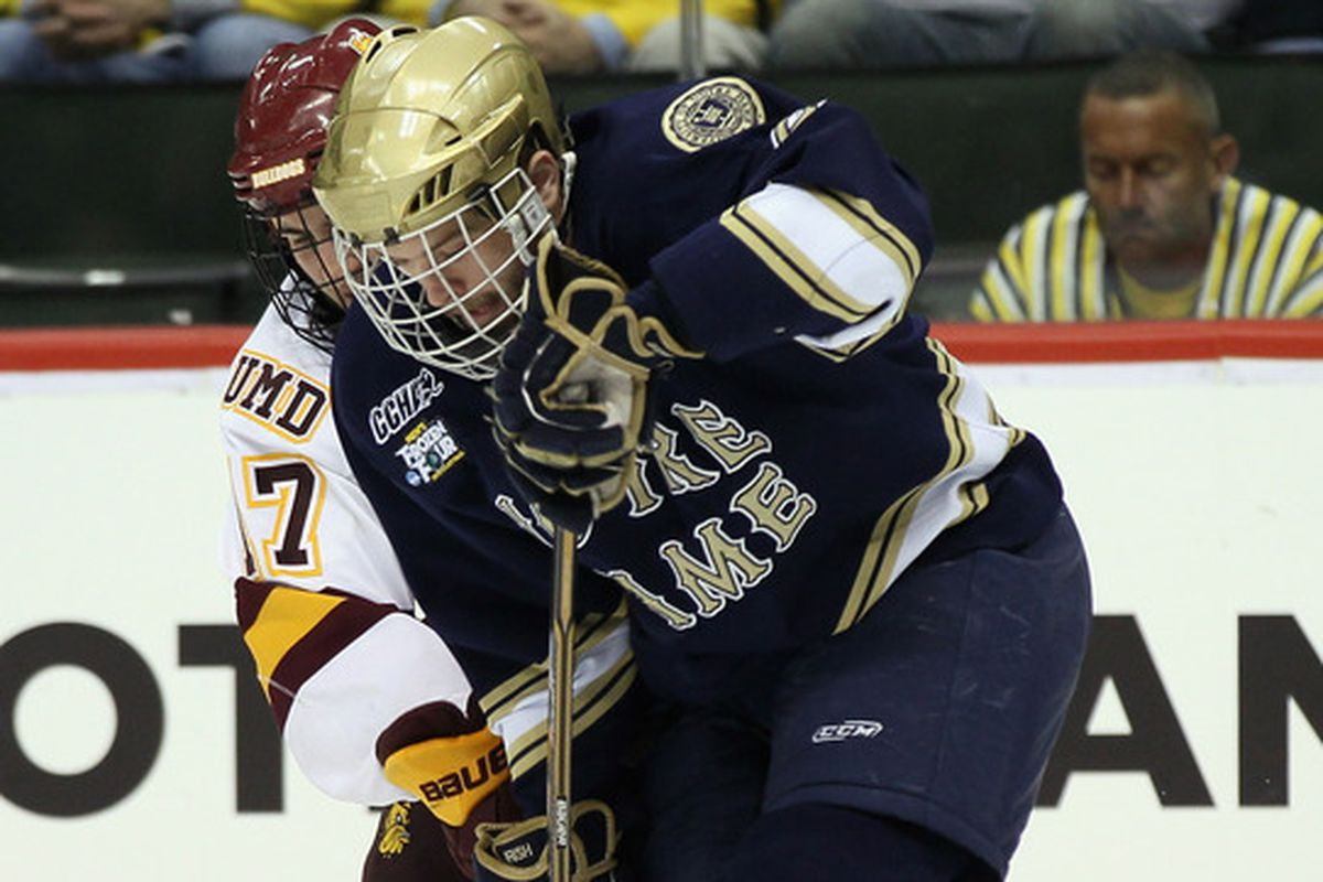 Notre Dame senior Bryan Rust scored the only goal of the game for the Fighting Irish.