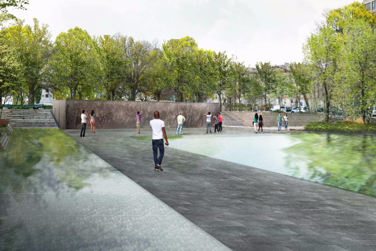 D c 39 s proposed wwi memorial gets redesign curbed dc for Pool design washington dc