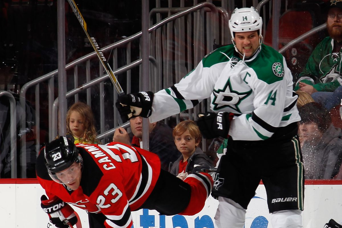 Mike Cammalleri was hit in the jaw by Jamie Benn in October. Did he sustain a concussion? No one's telling. Why?