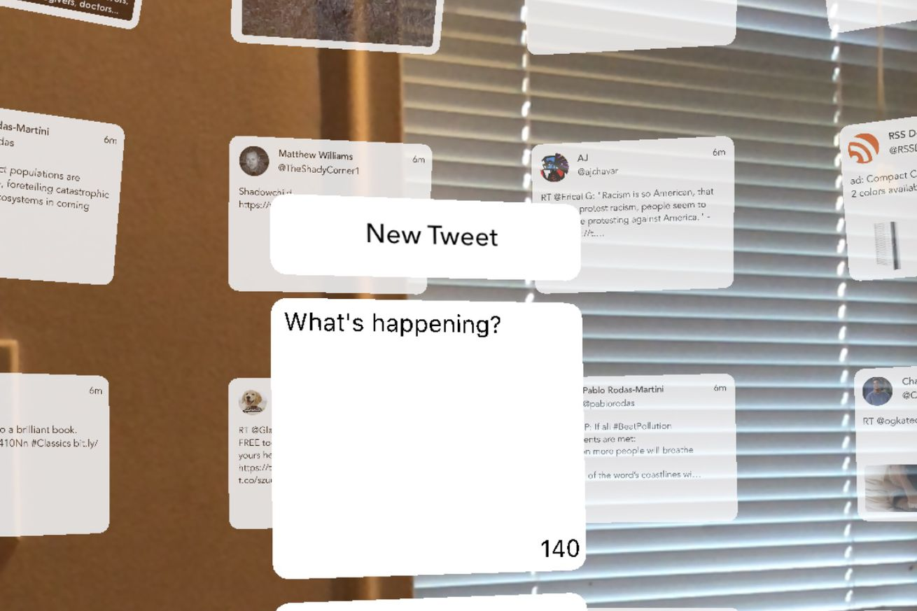 you can now use twitter in augmented reality in case your life isn t bleak enough