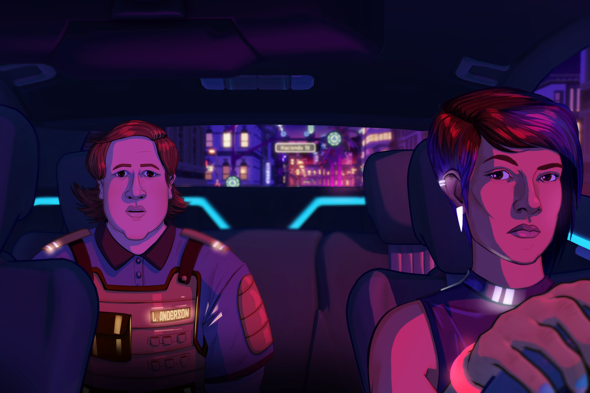 Lina drives a passenger in Neo Cab