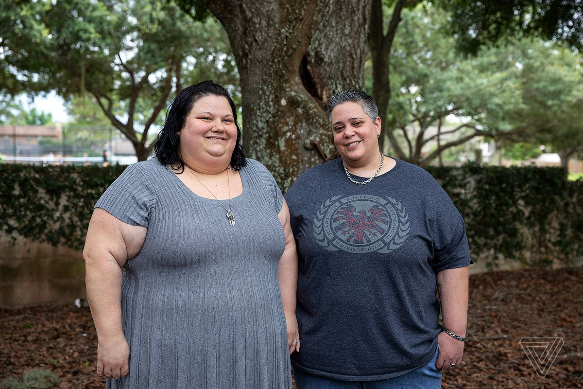Michelle Bennetti and Melynda Johnson (from left) worked for Cognizant for about nine months