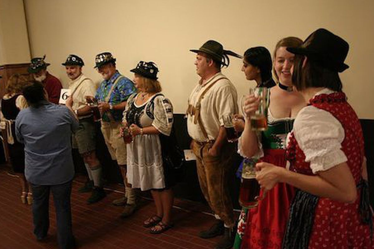 The costume competitors at last year's St. Arnold Oktoberfest.