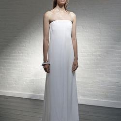 Strapless column dress, $595